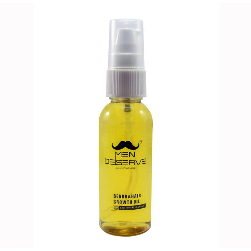 MEN DESERVE Beard & Hair Growth Oil Basil Hairy Root Extract