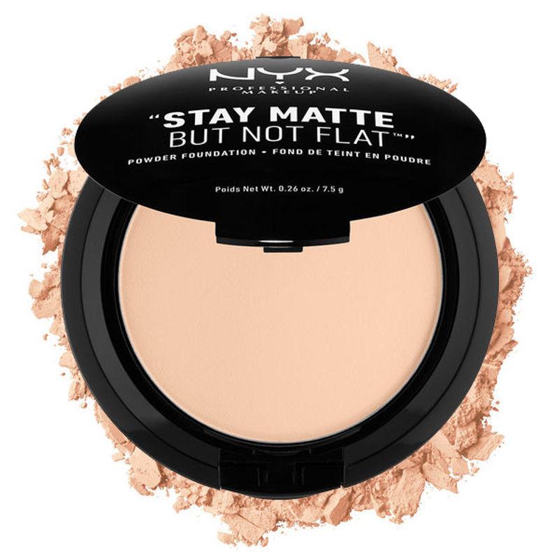 NYX Professional Makeup Stay Matte But Not Flat Powder Foundation - Light Beige