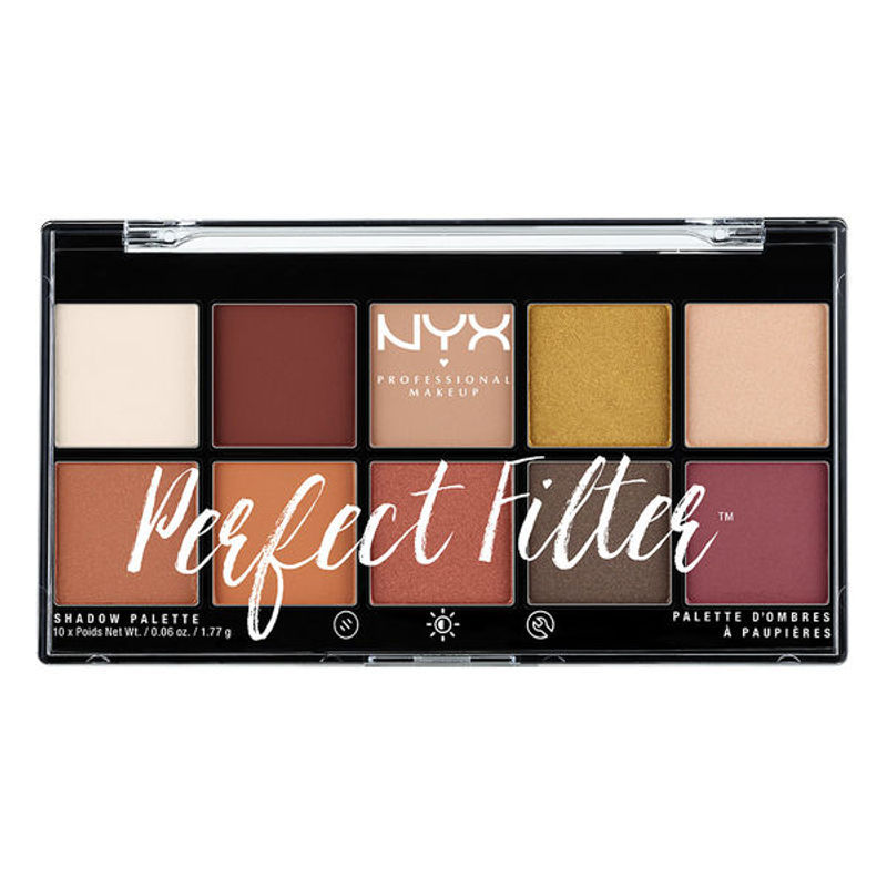 NYX Professional Makeup Perfect Filter Eyeshadow Palette - Rustic Antique
