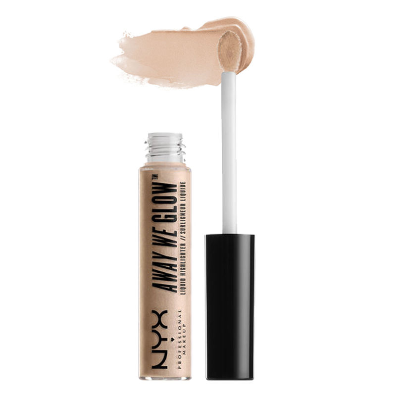 NYX Professional Makeup Away We Glow Liquid Highlighter - Crystal Glare