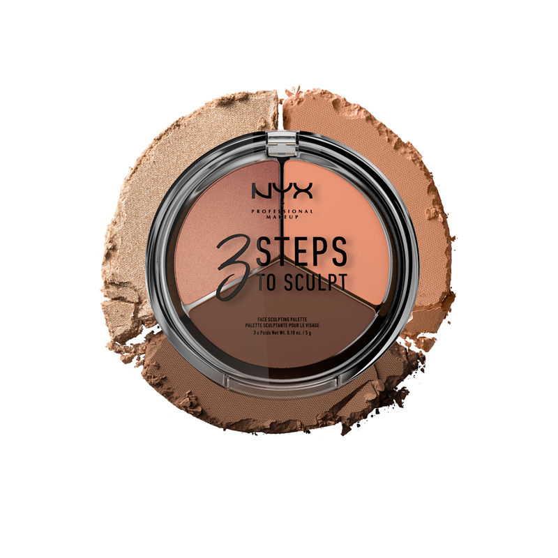 NYX Professional Makeup 3 Steps To Sculpt Face Sculpting Palette - 04 Dark