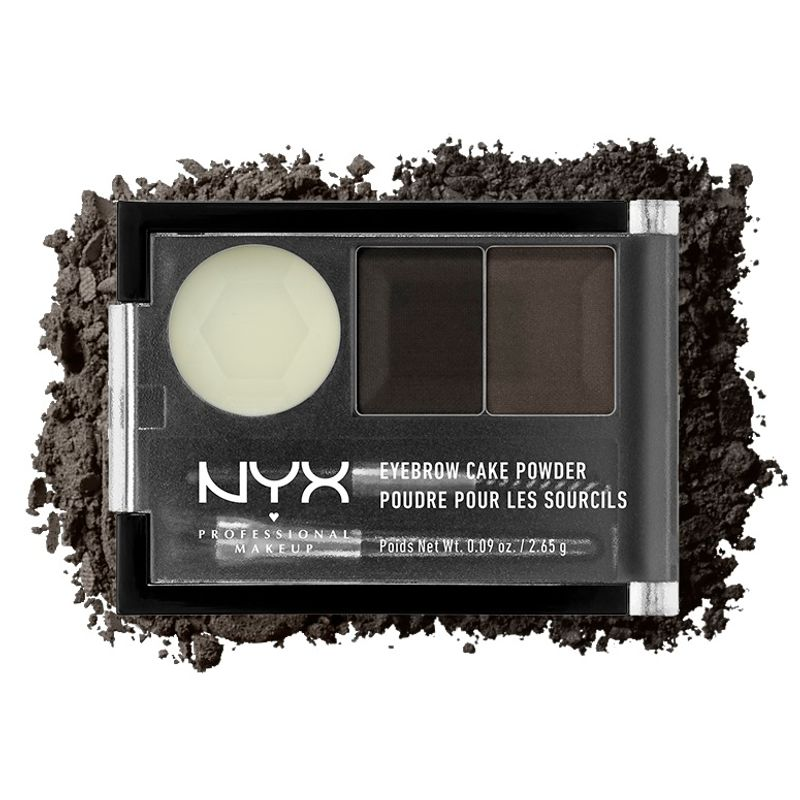 NYX Professional Makeup Eyebrow Cake Powder - Black / Grey