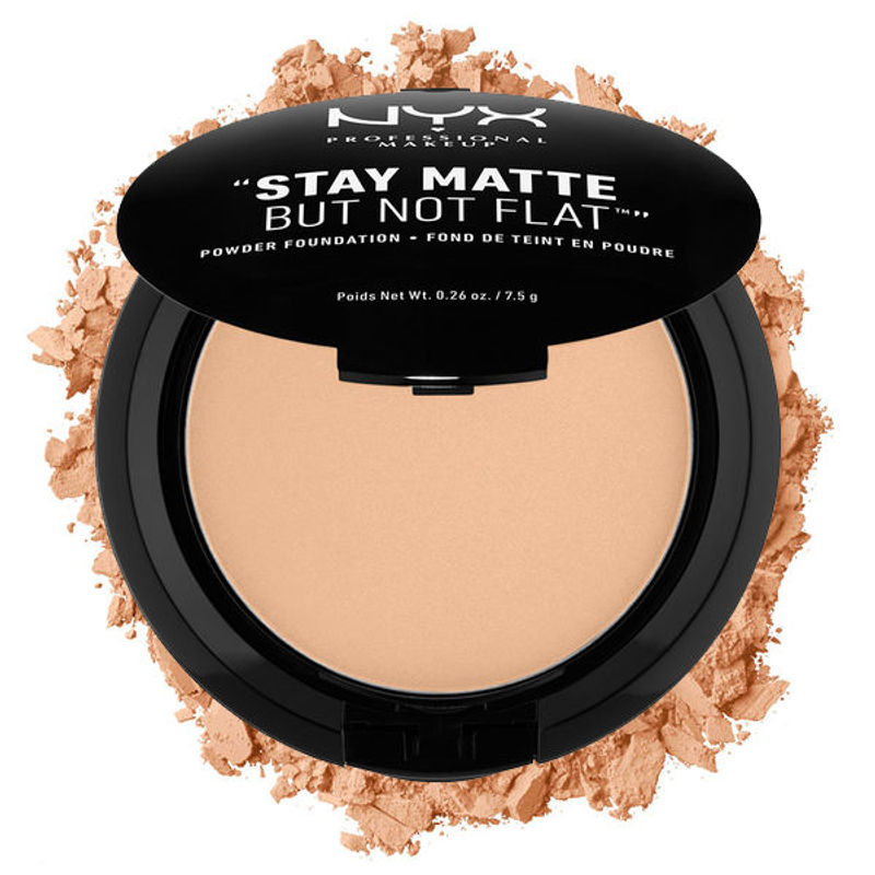 NYX Professional Makeup Stay Matte But Not Flat Powder Foundation - 06 Medium Beige