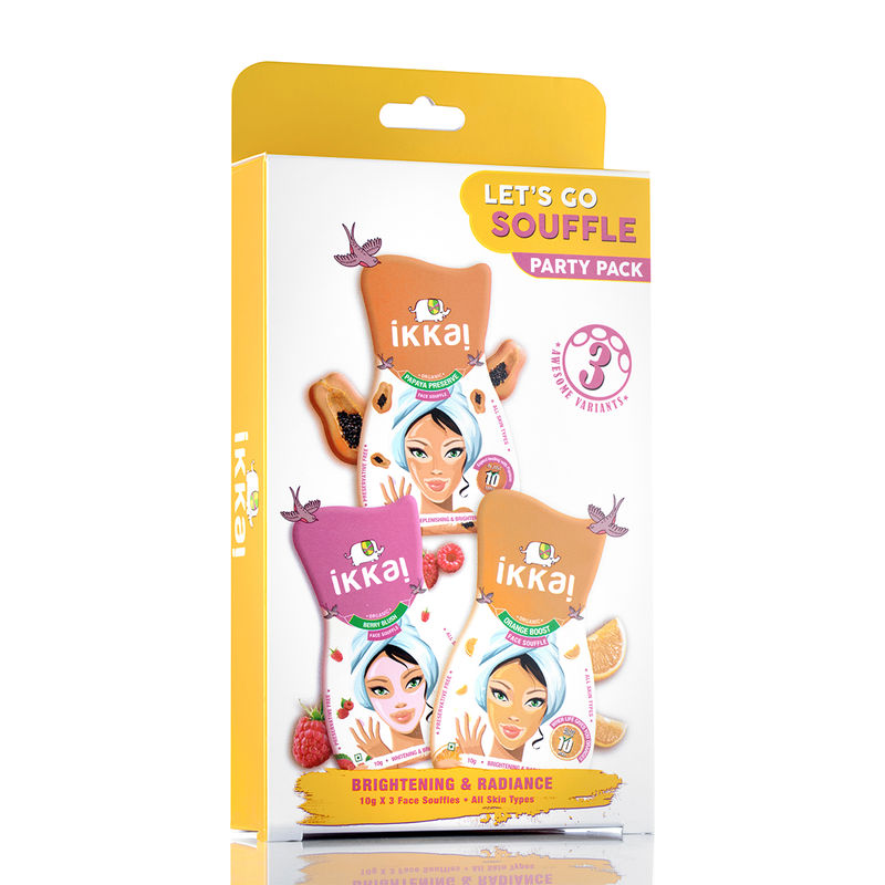 Ikkai By Lotus Herbals Lets Go Souffle Party Pack (3 Variants Inside)