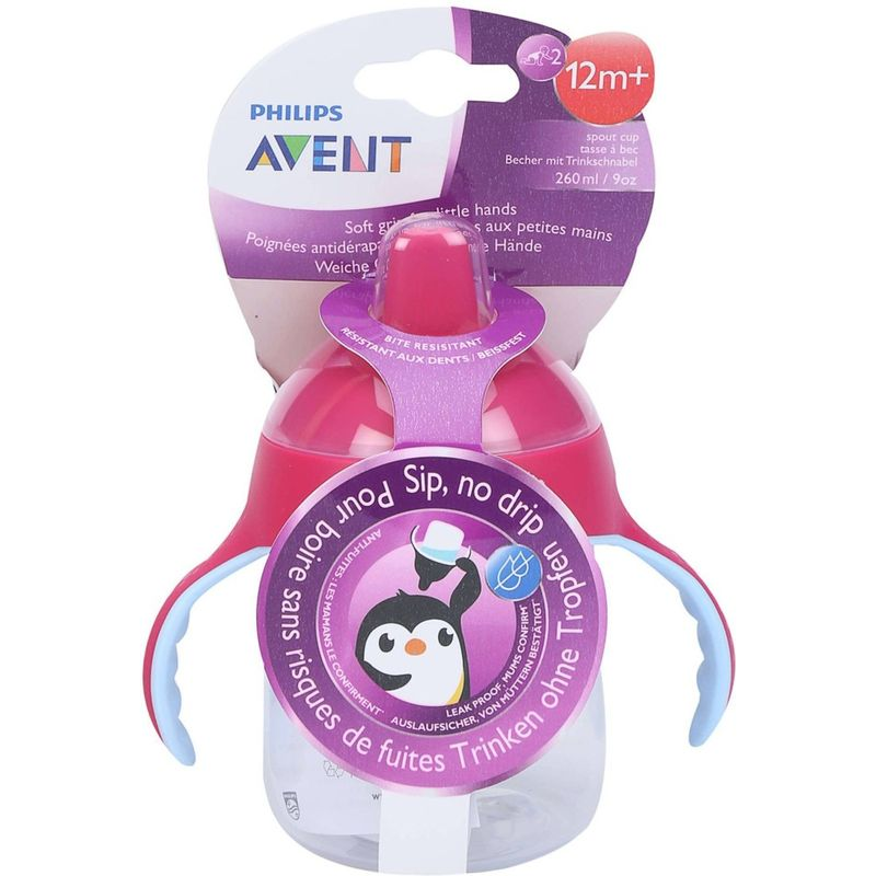 Philips Avent Premium Spout Cup - Pink - Single Pack