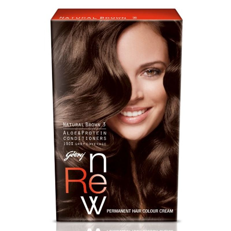 Godrej Renew Crème Hair Colour - Natural Brown