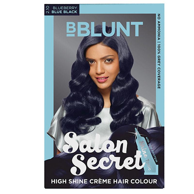 BBLUNT Salon Secret High Shine Creme Hair Colour - Blueberry Blue Black 2.10
