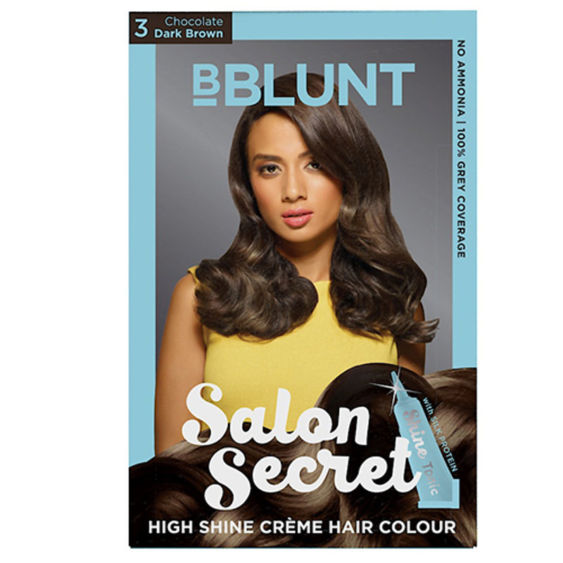 BBLUNT Salon Secret High Shine Creme Hair Colour - Chocolate Dark Brown 3 (Off Rs.26)