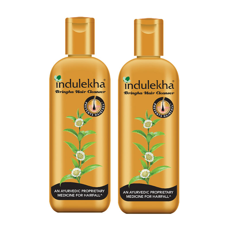 Indulekha Bringha Anti-Hairfall Shampoo (Pack Of 2)