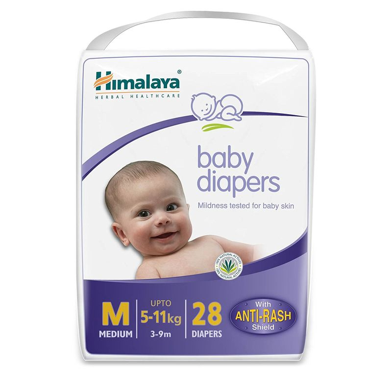 Himalaya Baby Care Baby Diapers Medium - 28 Diapers