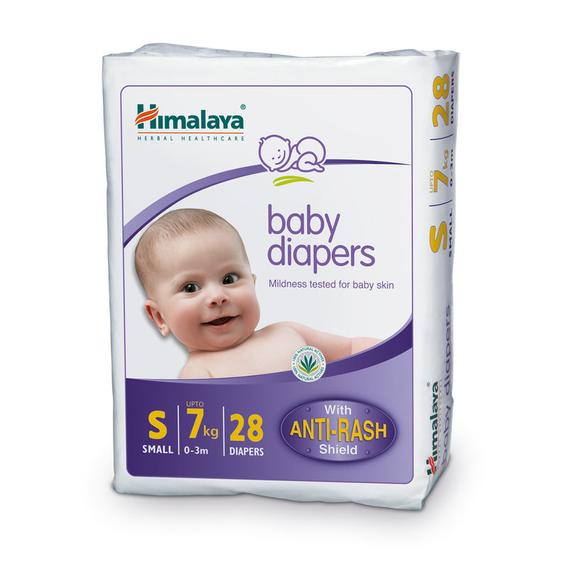 Himalaya Baby Care Baby Diapers Small - 28 Diapers