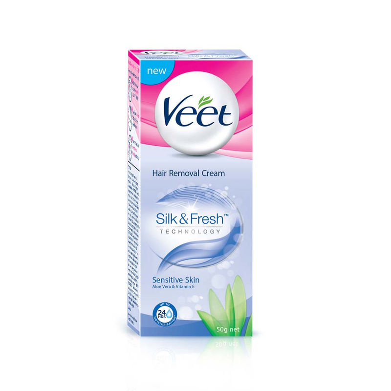 Veet Silk & Fresh Hair Removal Cream, Sensitive Skin + Rs.40 PAYTM Cash With This Pack