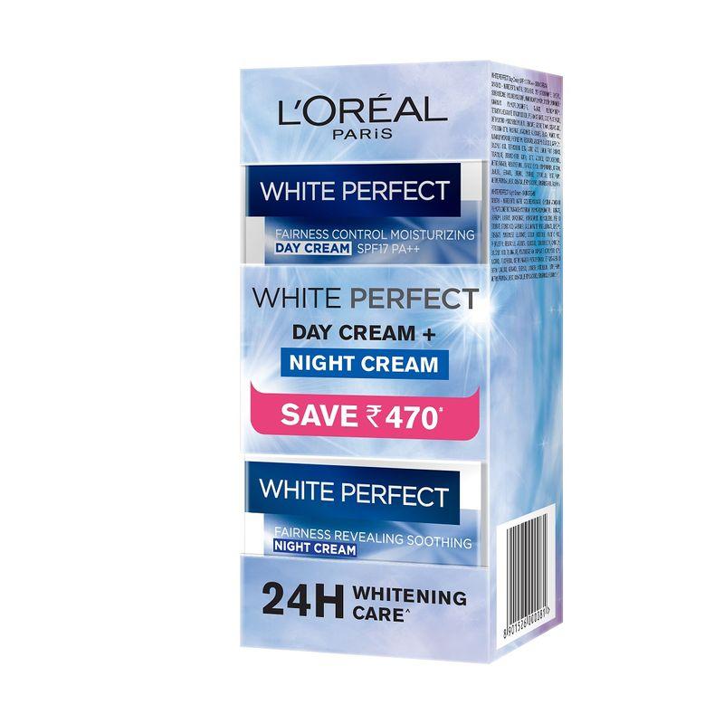 L'Oreal Paris White Perfect Day Cream + Night Cream Coffret