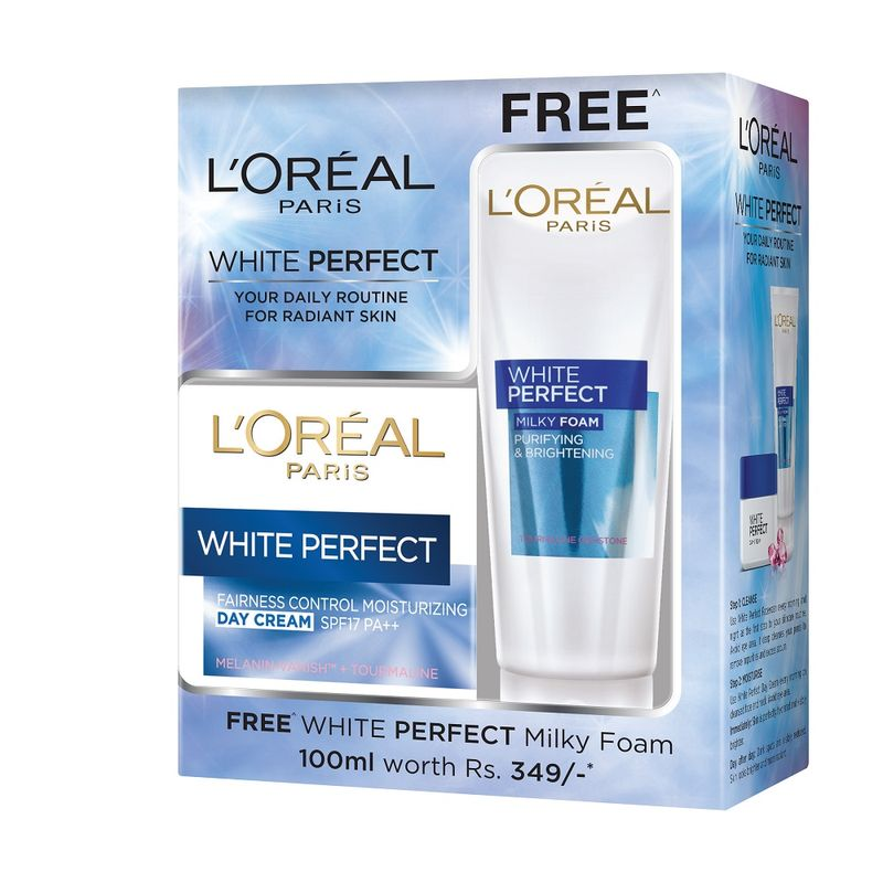 L'Oreal Paris White Perfect Moisturizing Day Cream + Free White Perfect Milky Foam