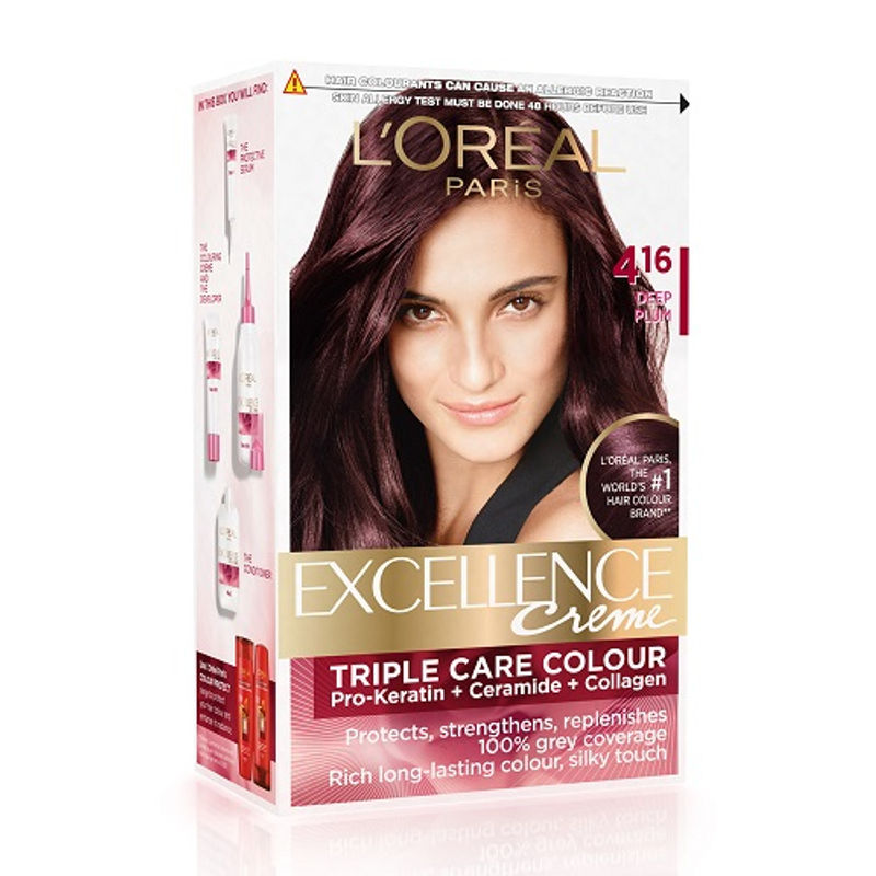 L'Oreal Paris Excellence Creme Hair Color - 4.16 Deep Plum