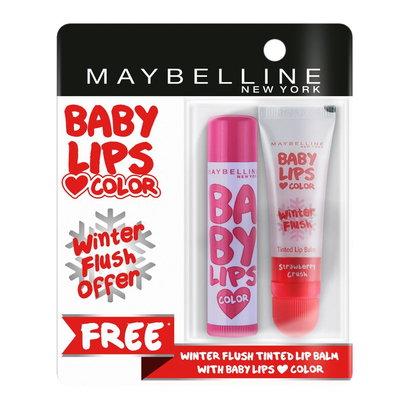 Buy 1 Maybelline New York Baby Lips Color Candy Rush Lip Balm - Gummy Grape & Get 1 Winter Flush Lip Balm Free