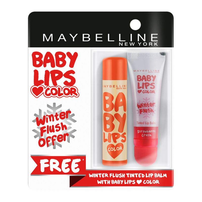 Buy 1 Maybelline New York Baby Lips Color Candy Rush Lip Balm - Orange Jujube & Get 1 Winter Flush Lip Balm Free