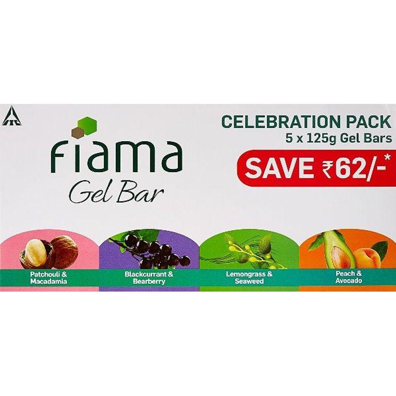 Fiama Gel Bar Celebration Pack (Buy 4 Get 1 Free) Save Rs.64