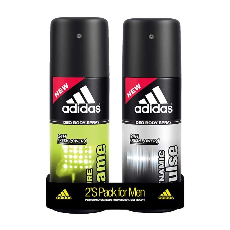 Adidas Dynamic Pulse & Pure Game Deodorant Body Spray Combo (Pack Of 2)