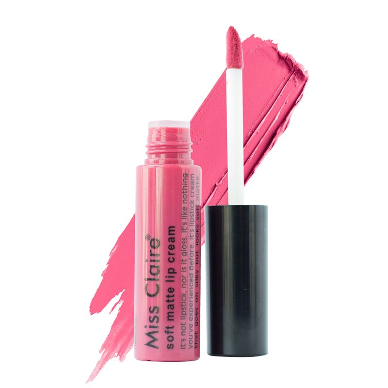 Revlon Superlustrous Lipstick Think Pink - 4.5 gr. Source · Miss Claire Soft Matte Lip Cream - 38