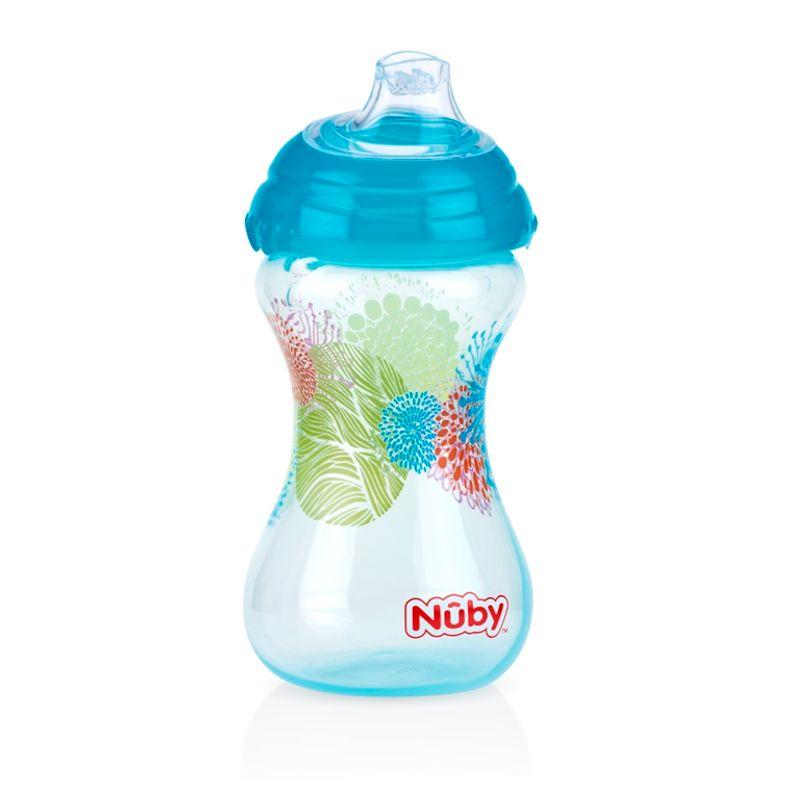 Nuby Designer Series Soft Spout Sipper - Aqua (6M+)