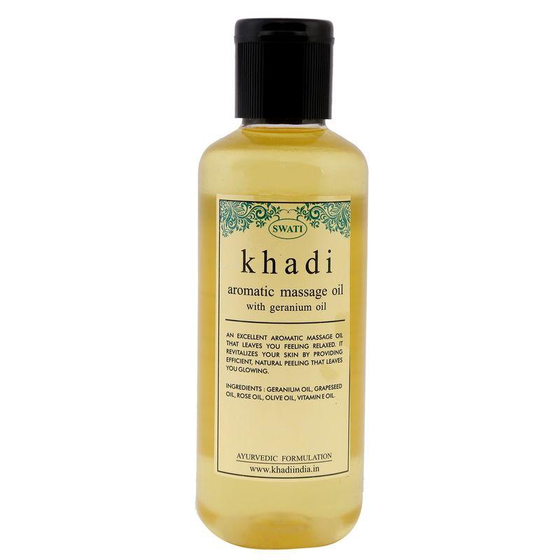 Swati Khadi Aromatic Massage Oil With Geranium Oil