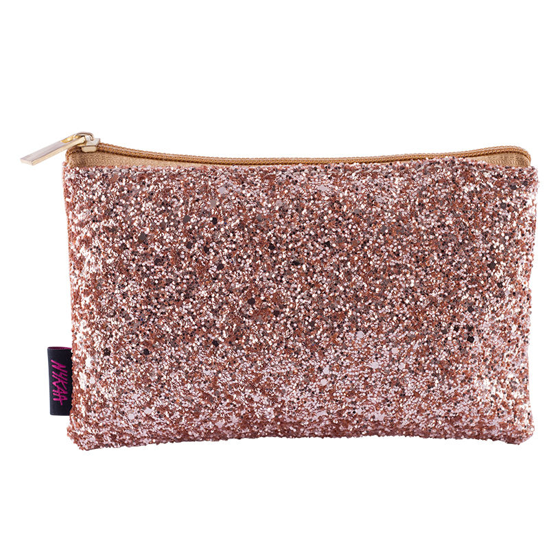 dd9662aa3e Nykaa Bling It On! Mini Travel-Size Makeup Bag - Blushing Gold at Nykaa.com