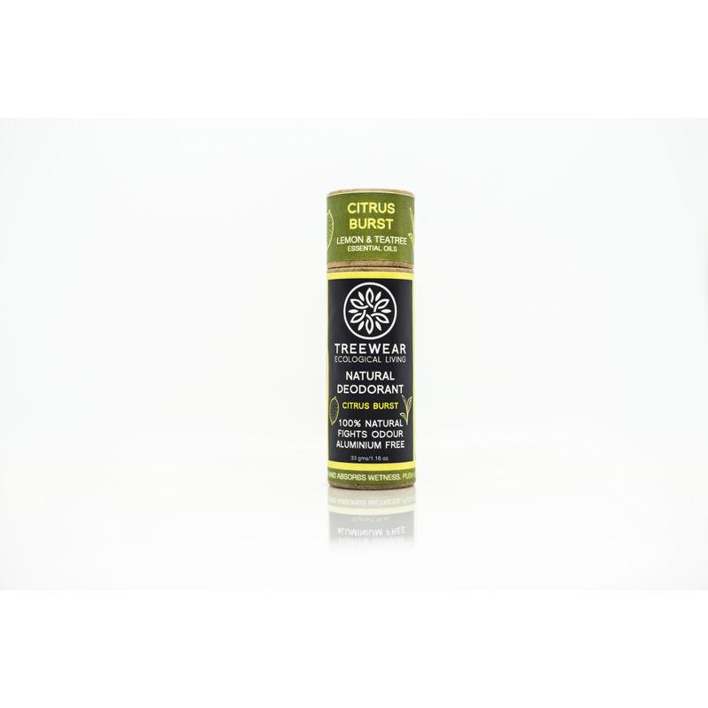TreeWear Natural Deodorant Stick - Citrus Burst