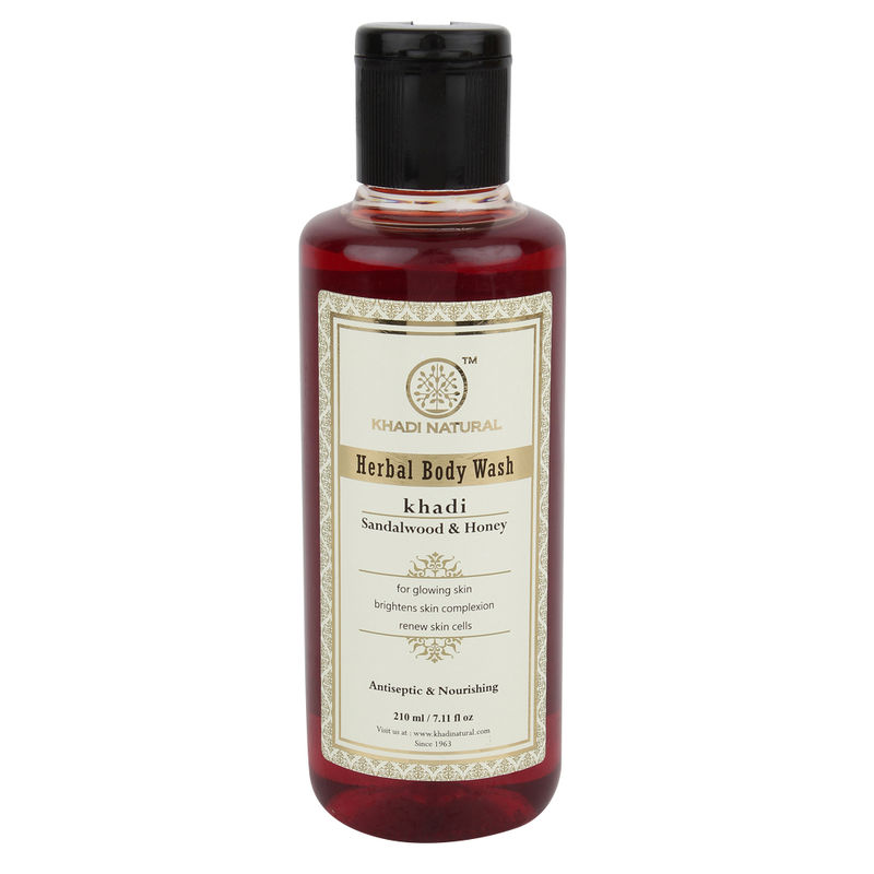 Khadi Natural Sandalwood & Honey Herbal Body Wash