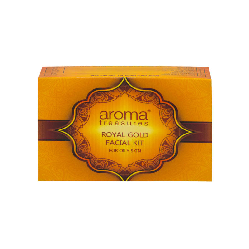 Aroma Treasures Royal Gold Facial Kit For Oily Skin - Single Time at  Nykaa.com