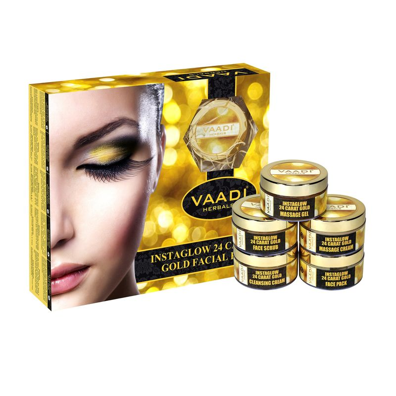 Vaadi Herbals Instaglow 24 Carat Gold Facial Kit