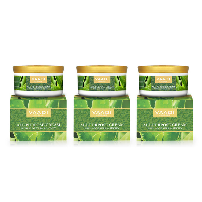 Vaadi Herbals All Purpose Cream With Aloe Vera & Honey Pack Of 3