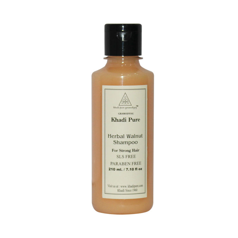 Khadi Pure Herbal Walnut Shampoo SLS-Paraben Free