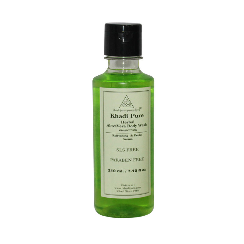 Khadi Pure Herbal Aloevera Body Wash SLS-Paraben Free