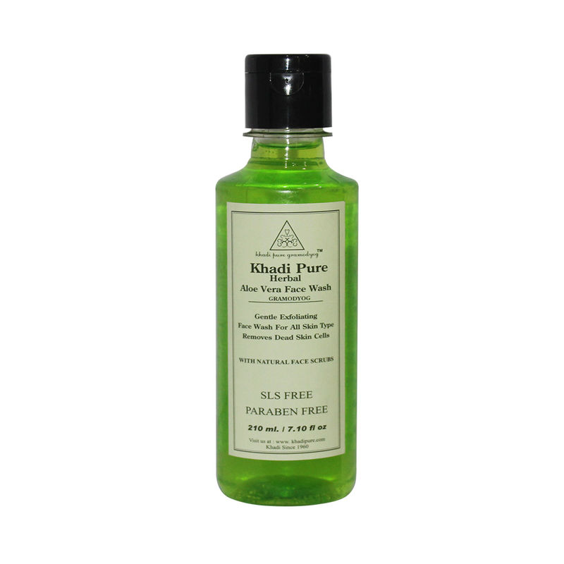 Khadi Pure Herbal Aloevera Face Wash SLS-Paraben Free