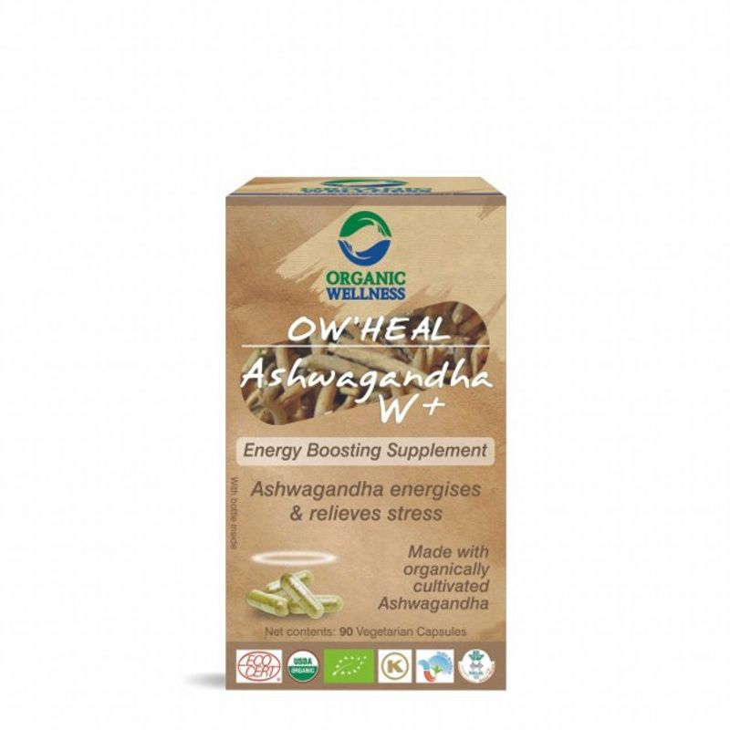 Organic Wellness Heal Ashwagandha W+ (Energy Boosting Supplement)