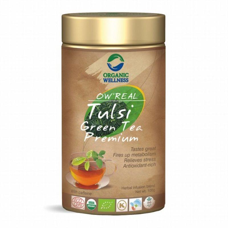 Organic Wellness Real Tulsi Green Tea Premium Tin