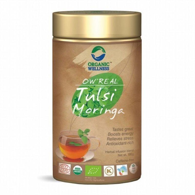 Organic Wellness Real Tulsi Moringa Tea Tin