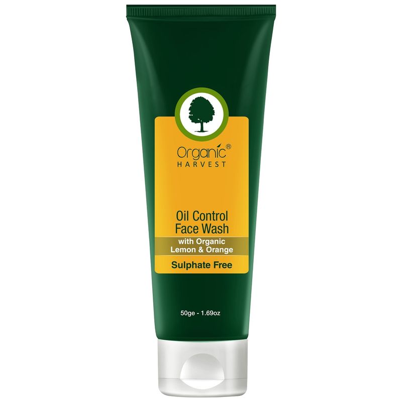 Organic Harvest Sulphate Free Oil Control Face Wash With Organic Lemon & Orange