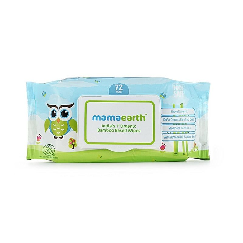 Mamaearth India's First Organic Bamboo Based Baby Wipes - 72 Wipes