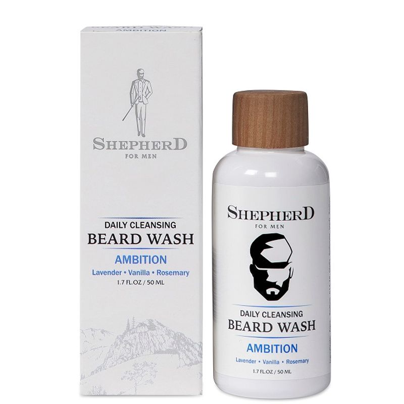 Shepherd For Men Daily Cleansing Beard Wash - Ambition
