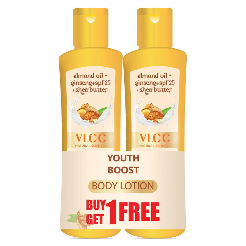 VLCC Youth Boost Body Lotion SPF 25| PA+++ (Buy 1 Get 1) - 8907122011513