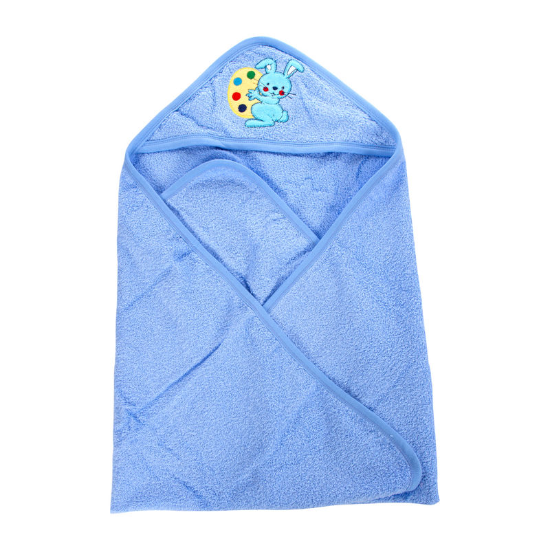 Mee Mee Soft Absorbent Baby Towel With Hood - Blue