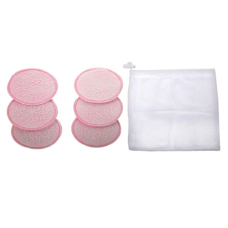 Mee Mee Washable Cotton Maternity Breast Pads Pack Of 6 - Pink