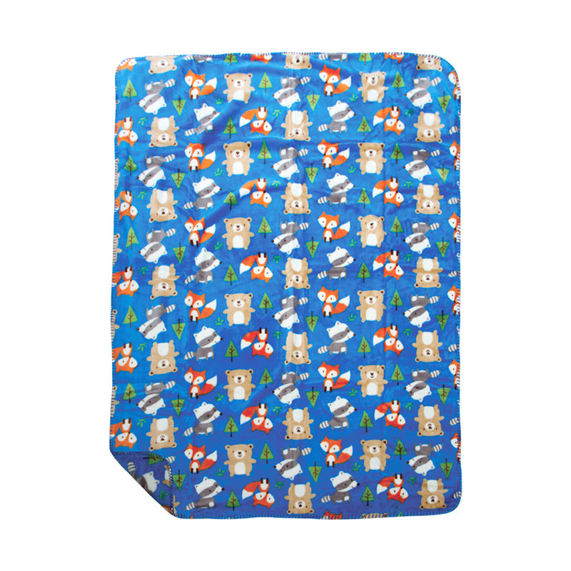 Mee Mee Cuddle Up Reversible Baby Blanket - Dark Blue