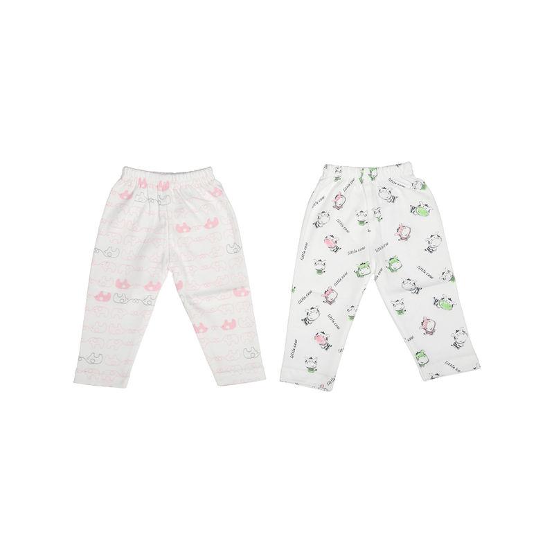 Mee Mee Baby Leggings - Pink & Green Pack Of 2