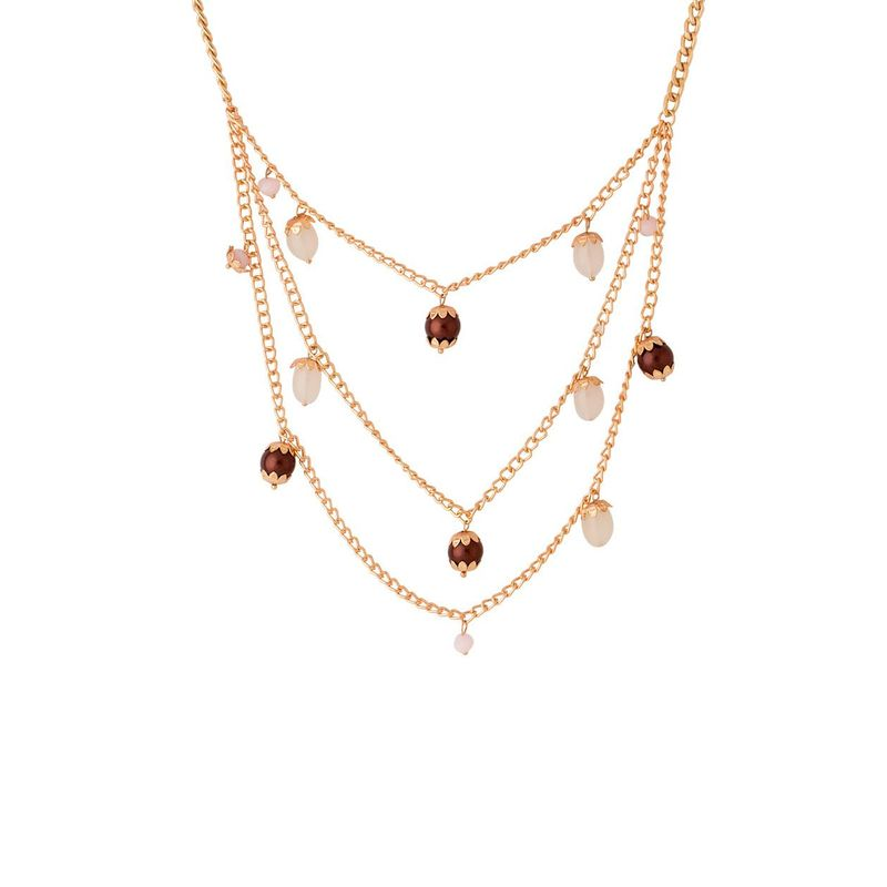 a00aa81af Voylla Beautiful Beads Dangled With Stylish Multilayered Chain Necklace For  Women