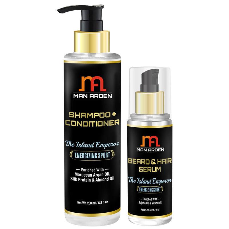Man Arden Shampoo & Conditioner + Hair Serum (The Island Emperor Kit)