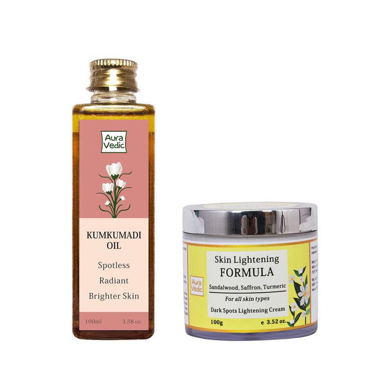 Auravedic Kumkumadi Oil + Skin Lightening Formula