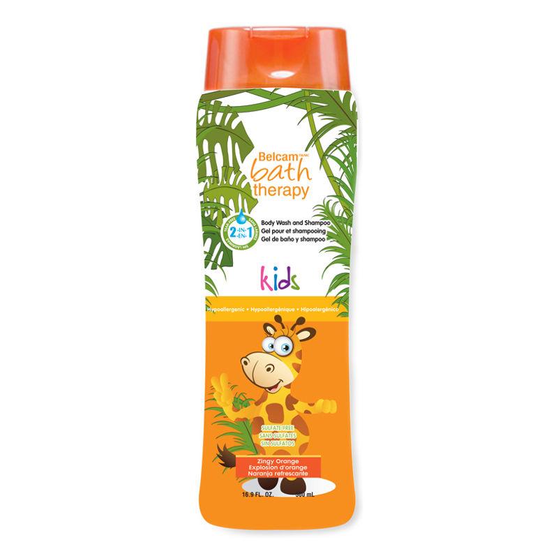 Belcam Kids Body Wash And Shampoo - Zingy Orange